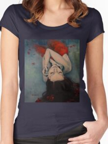 Swinging in Red Women's Fitted Scoop T-Shirt