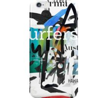 Surfers scribble iPhone Case/Skin