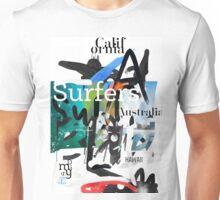 Surfers scribble Unisex T-Shirt