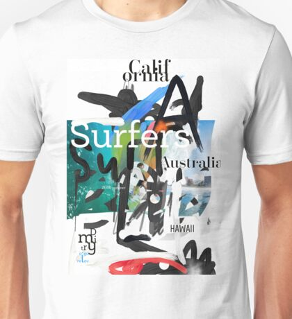 Surfers scribble Unisex T-Shirt