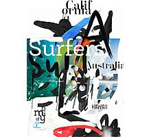 Surfers scribble Photographic Print