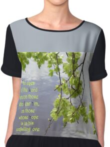 'The eyes of the Lord are on those who fear him' Psalm 33:18 Chiffon Top