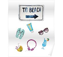 To Beach Summer  Poster