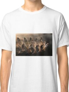 Myanmar, Shan state, Inle lake, fishermen fishing by traditional fishing techniques at dusk  Classic T-Shirt