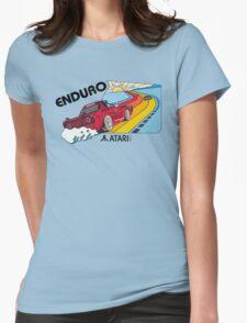 ATARI ENDURO RACING CARTRIDGE LABEL Womens Fitted T-Shirt