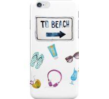 To Beach Summer  iPhone Case/Skin