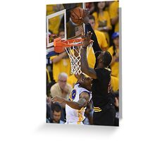 LeBron James Game 7 versus Curry Greeting Card