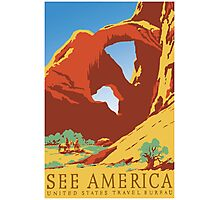 Vintage Travel Poster - See America Photographic Print