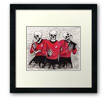 Three Red Shirteers Framed Print