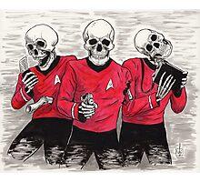 Three Red Shirteers Photographic Print