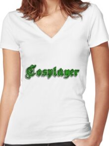 Cosplayer Women's Fitted V-Neck T-Shirt
