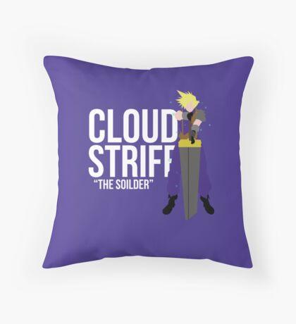 Cloud Strife FFVII  Throw Pillow