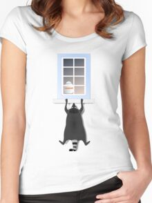 Cheeky racoon Women's Fitted Scoop T-Shirt