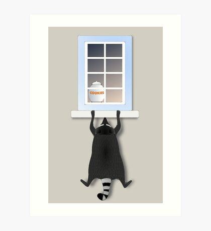 Cheeky racoon Art Print