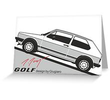 VW Golf by Giugiaro Greeting Card