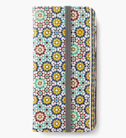 Decorative tiles on Nuzha mosque, Jaffa, Israel  iPhone Wallet/Case/Skin