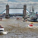 Thames Traffic  by larry flewers