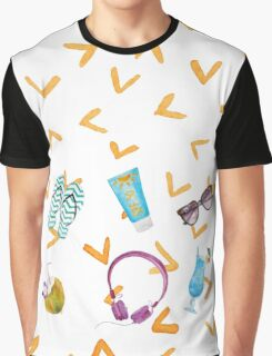 Summer Beach Graphic T-Shirt