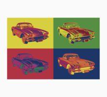 1962 Chevrolet Corvette Pop Art One Piece - Long Sleeve