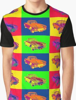 1962 Chevrolet Corvette Pop Art Graphic T-Shirt