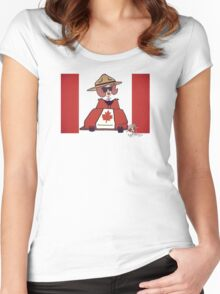 Wildago's Pearl on Canada Day Women's Fitted Scoop T-Shirt