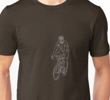 The Cyclist - White Unisex T-Shirt