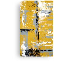 Contemporary Yellow and Gray Art Set by Artist Holly Anderson Canvas Print