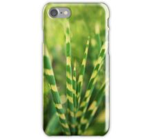 Yellow green zebra grass iPhone Case/Skin