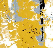 Contemporary Yellow and Gray Art Set by Artist Holly Anderson by hollyanderson