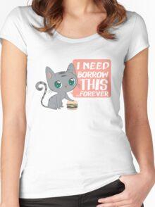 Kitty Burger - shirt Women's Fitted Scoop T-Shirt
