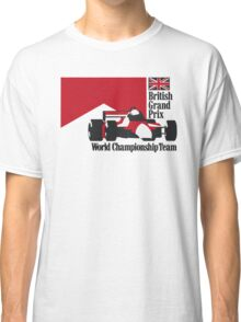 80´s MCLAREN WORLD CHAMPIONSHIP TEAM - BRITISH GRAND PRIX  Classic T-Shirt