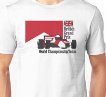 80´s MCLAREN WORLD CHAMPIONSHIP TEAM - BRITISH GRAND PRIX  Unisex T-Shirt