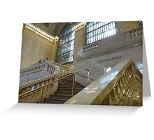 Grand Central Station Staircase Greeting Card