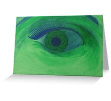 Green Eyed Greeting Card
