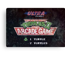 Ninja Turtles II Arcade Game Canvas Print
