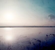 grunge sunset in a lake  by jessicahyde