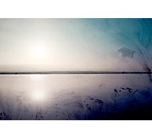 grunge sunset in a lake  Photographic Print
