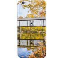 Covered Bridge Over Sugar Creek iPhone Case/Skin