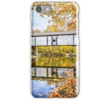 Covered Bridge Over Sugar Creek iPhone Case/Skin