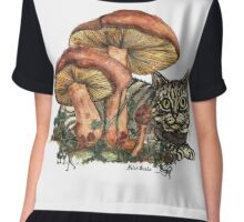 Mushroom and Cat Chiffon Top