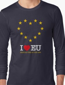 I LOVE EU - PROUDLY ONE OF THE 48% (Design #3) Long Sleeve T-Shirt