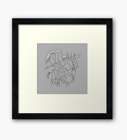 After Picasso - Tres Framed Print