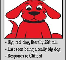 Clifford The Big Red Dog - Lost Puppy by neonbrownbear