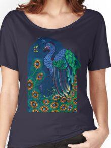 peacock t-shirt, art nouveau Women's Relaxed Fit T-Shirt