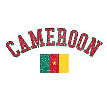 Cameroon Flag Vintage Photographic Print
