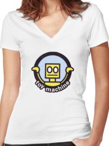 Toy Machine Robot Face Women's Fitted V-Neck T-Shirt