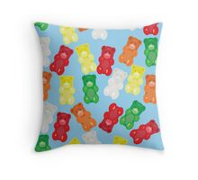Gummy Galore Throw Pillow