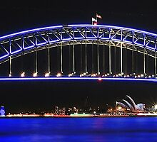 Sydney's Icons at night by blackdogimages