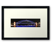 Sydney's Icons at night Framed Print