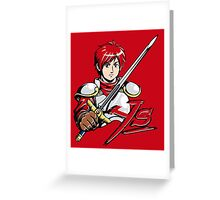 Ys - Adol (Red) Greeting Card